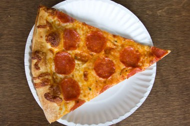 A good old-fashioned slice of pepperoni pizza from Atlas Pizza.