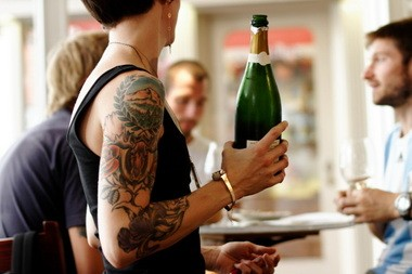 Emily Klein serves up good conversation with the bottles at Oregon Wines on Broadway.