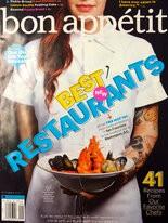 Anna Vocaturo on the cover of Bon Appetit.