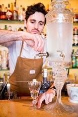 Acadia Bistro's Beau Burtnick prepares absinthe.