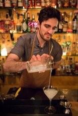 Acadia Bistro's Beau Burtnick prepares a Steve Teborek cocktail.