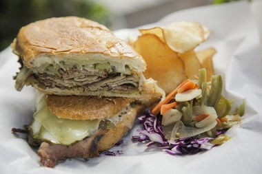 The pressed Cubano from Pyro's Wicked Wiches.