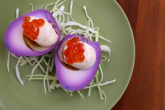 Pickled eggs with roe at The Wild Hunt.