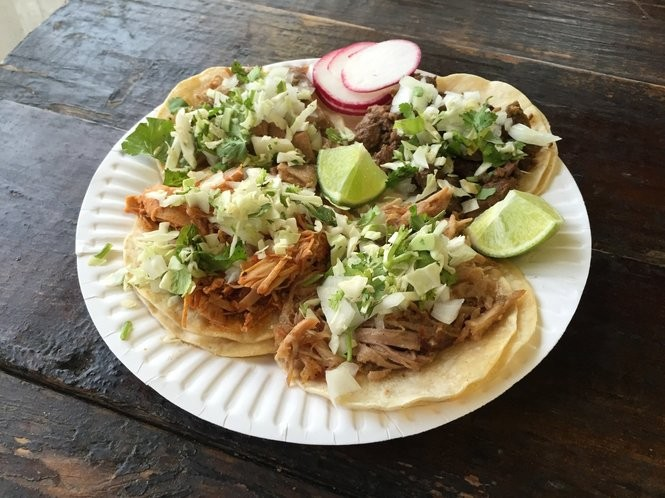 McMinnville's Tacos El Gordo has a colorful DIY salsa bar and the vibe of an outdoor bazaar.