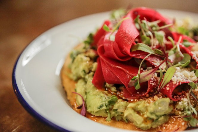 Guero's guacamole tostada, part of the newly expanded snack menu