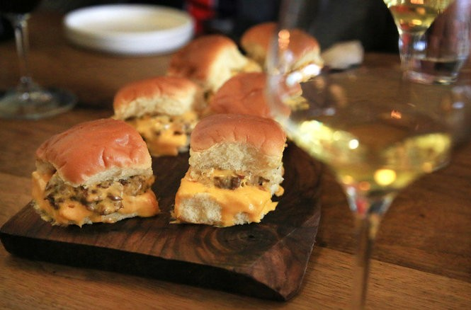 White Castle-inspired steam burgers and old German riesling at Canard.