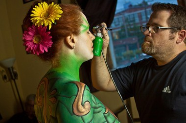 Matt Huntley paints models who are often nude, but Facebook won't allow photos of his art.