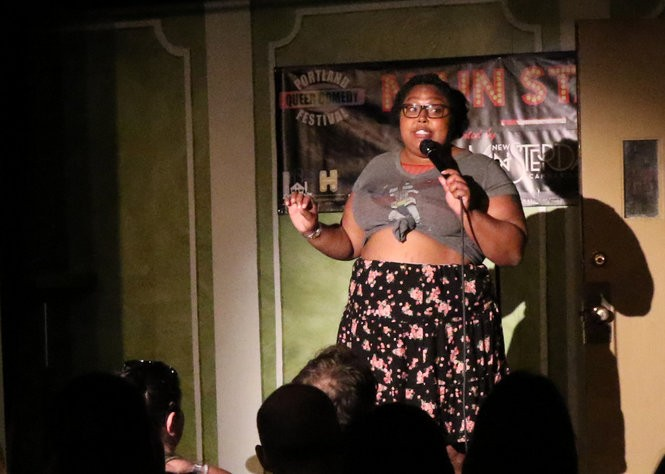 Danielle Radford performs at the inaugural Portland Queer Comedy Festival in 2017.