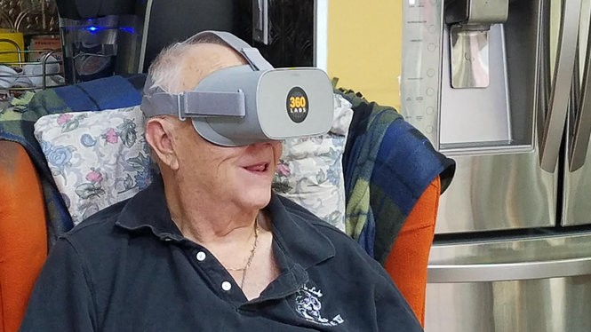 """Walter Cole, better known as Darcelle, Portland's most famous drag queen, visits virtual reality with the help of the 360 Labs filmmaking team, which is behind """"Through Darcelle's Eyes."""" (360 Labs)"""