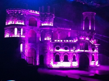 Castle Gaga on Tuesday night at the Rose Garden.