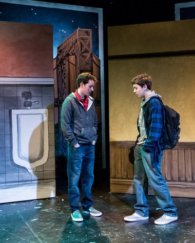 """The kindness of strangers: Andy Lee-Hillstrom and Nathan Berl in Theatre Vertigo's production of """"The Velvet Sky."""""""