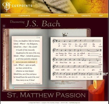 """The Oregon Bach Festival's latest digital project includes a look at the """"St. Matthew Passion."""""""