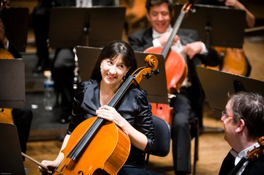 Nancy Ives, principal cello, says it's OK to tweet, text, take photos and clap at will during free chamber concerts in May.