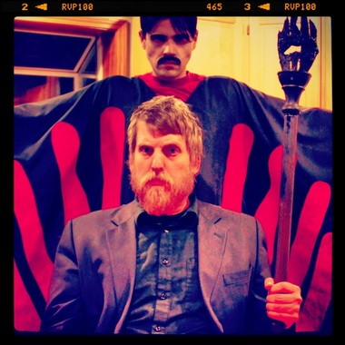 """A glutton for horror punishment, Brian Adrian Koch (foreground, with Paul Glazier) revives his stage adaptation of """"Manos: The Hands of Fate,"""" April 11-May 5 at IFCC."""