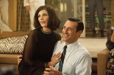"""Jessica Pare and Jon Hamm return this Sunday on TV's """"Mad Men."""" Celebrate with 1960s-themed party snacks and cocktails."""