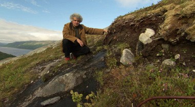 """Igancio Chapela on the bluffs of Norway in the documentary """"Symphony of the Soil"""""""