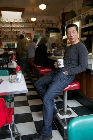 """Reggie Lee, seen here at the Pearl District's Byways Cafe, says his experience playing Sgt. Wu on """"Grimm"""" has given him an appreciation of Portland, and he's developed favorite local spots, including the Byways Cafe."""