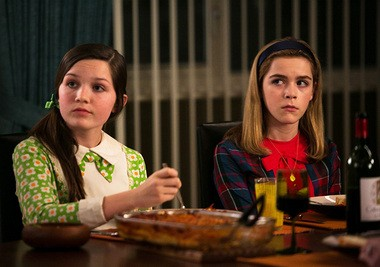 """""""Mad Men"""": Sally Draper (Kieran Shipka, right), there's a big therapy bill in your future. As for your friend Julie (Cameron Protzman), she's growing up a little too fast too, from the sound of things."""