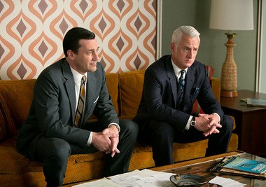 """Mad Men"": Don (Jon Hamm) and Roger (John Slattery) have office business to attend to."