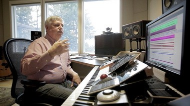 "Dave Metzger works behind the sound-proof walls of his home studio in Salem. Using digital tracks that are easily shared, he can collaborate on orchestrations with anyone, anywhere. His most recent project, Walt Disney's ""Frozen,"" is receiving critical acclaim."