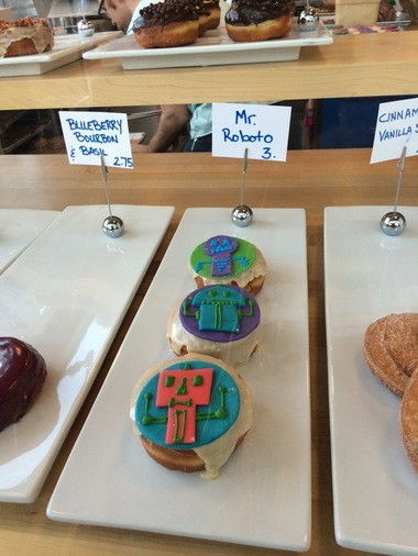 Special robot donuts at Blue Star Donuts.