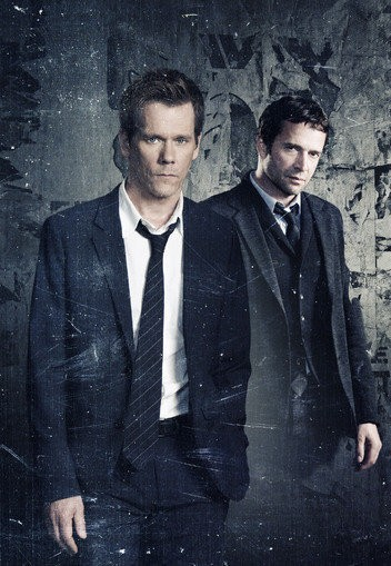 "Kevin Bacon and James Purefoy star in the disturbing new Fox drama, ""The Following."""