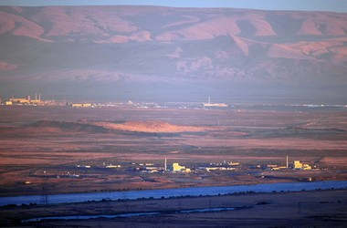 The Columbia River runs alongside the U.S. Department of Energy's Hanford site.