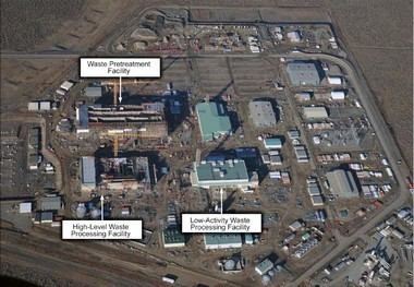 The Hanford waste treatment plant site as of March 2012.