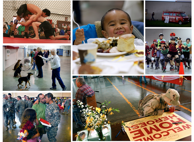 National Guard armories across the country host a variety of events attended by troops, their families and members of the general public. Some host family gatherings, some host children's classes, some host athletic events and concerts.