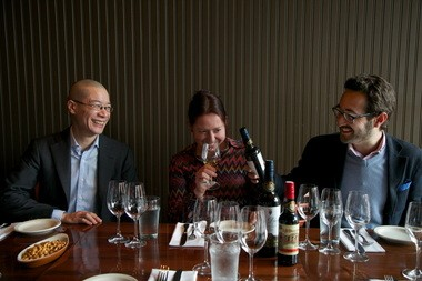 Sherry expert Peter Liem (from left), Cheryl Wakerhauser, owner of Pix Patisserie and Bar Vivant, and Jaime Gil of sherry house Valdespino want Americans to know that sherry is an ideal beverage for everyday sipping.