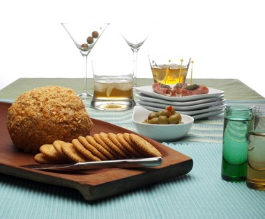 """A Marcona-crusted Cheese Ball, Fennel Salami Rolls and classic cocktails are perfect for welcoming the arrival of season 6 of """"Mad Men."""""""