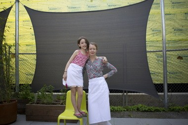 Kelly Myers, executive chef at Xico, and daughter Kika Garcia, 9.