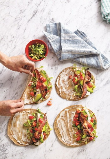 """Turkey BLTA Wraps from """"Weelicious Lunches"""" by Catherine McCord"""
