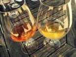 """A.D. Beckham MMXIII Amphora Pinot Gris (left) and Minimus """"A.D. Beckham MMXVII"""" Johan Vineyard Willamette Valley White Wine, a gruner veltliner (right)."""