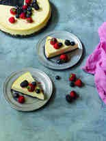 "Goat Cheese Cheesecake, from ""Yogurt Culture,"" by Cheryl Sternman Rule, (Photo by Ellen Silverman/ Houghton Mifflin Harcourt)"