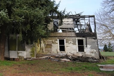 A fire in 2005 burned part of the house, but the structure remains standing. Local authorities worry someone could get hurt when part of the house collapses.