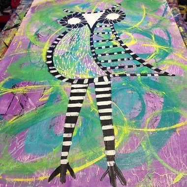 Artist Helvi Smith's latest project -- owl art -- will be on display during Shop Local Tuesday, an effort by Forest Grove businesses to get locals to spend more money in town.