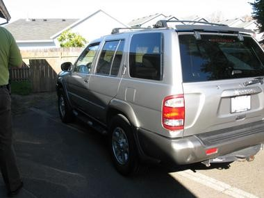 The 2001 Nissan Pathfinder which Forest Grove Police believe struck and killed 6-year-old Anna Dieter-Eckerdt and her stepsister Abigail Robinson, 11.