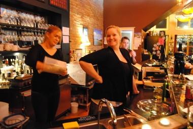 Becky Kramer (center) owner of Urban Decanter.