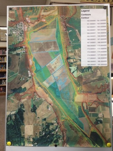A map presented at a Nov. 18th open house shows the area of the Wapato Lake National Wildlife Refuge.