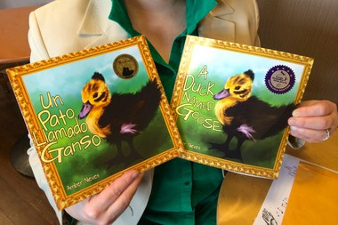 "Amber Nieves of Forest Grove recently published her first book, ""A Duck Named Goose"" and its Spanish counterpart, ""Un Pato Llamado Ganso."" (Kelsey O'Halloran/Forest Grove Leader)"