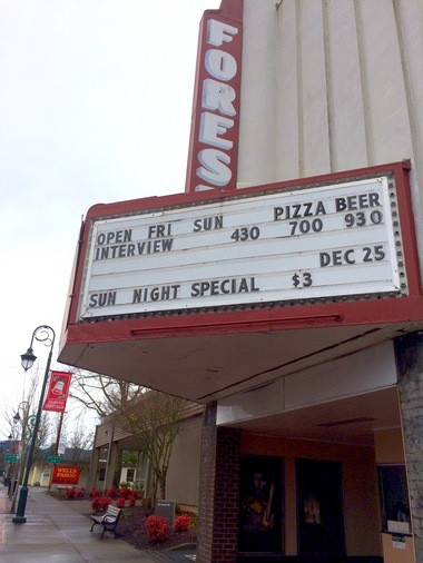 """The Interview"" will show at the Forest Theater in Forest Grove on Christmas Day."