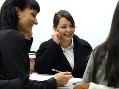 Two-thirds of the students in the Mt. Hood Community College Funeral Service Education program are women, including Casandra Hardman (center) and Michelle Worden.