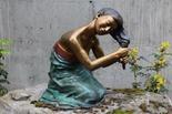 The Georgeâs Garden features three bronze statues created by Battle Ground sculptor Jim Demetro.