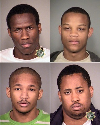Clockwise from top left: Deshawn Rogers, Nicholas Clisby, Cedrell Washington, Terry Scott.