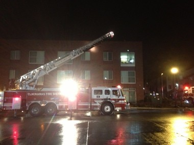 Firefighters could begin mop up and ventilation right away after arriving at a Happy Valley-area apartment fire extinguished by the built-in sprinkler system.
