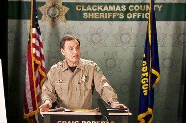 The public safety forum panel also includes Clackamas County Sheriff Craig Roberts.