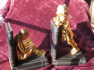 Family treasures, finds and mysteries bookends.