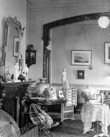 The decor-laden tables in this 1890-ish photo of the Fairfield House in Nelson, New Zealand leave no room for a new activity.
