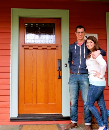 Brittany and Timothy Smith have a new door on their 1924 bungalow near Grant Park in northeast Portland.